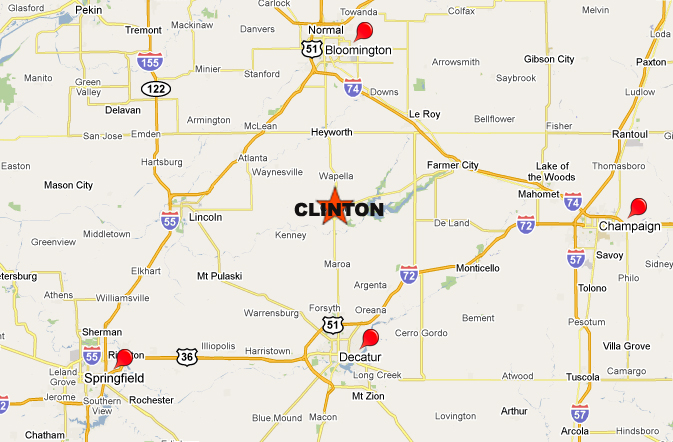 Decatur Illinois Map.Taylor Lynch Located In Clinton Illinois Between Decatur And